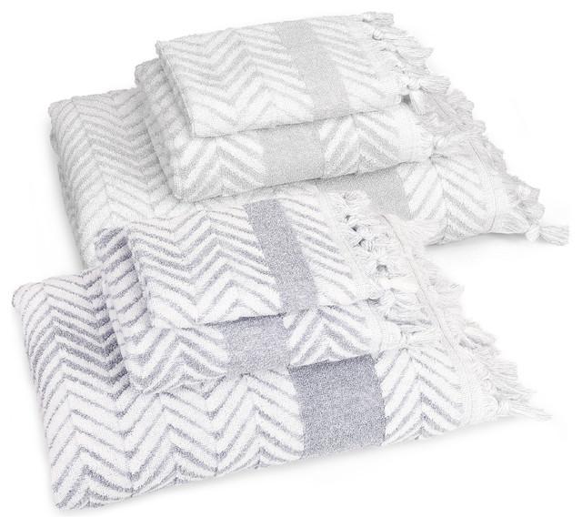 ac190ad9ca0c Linum Home Textiles Assos 6-Piece Towel Set - Contemporary - Bath Towels -  by Linum Home Textiles