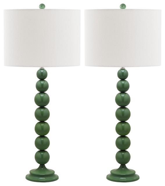 Safavieh Jenna Stacked Ball Lamps, Set Of 2, Marine Blue.
