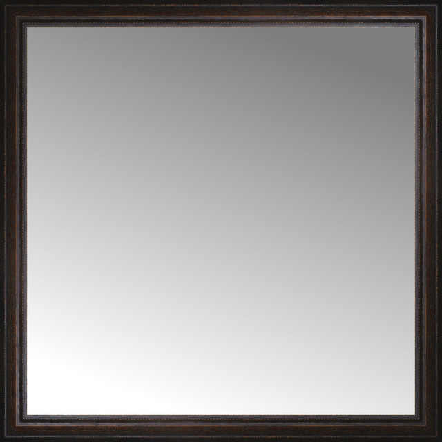 40 X40 Custom Framed Mirror Traditional Wall Mirrors By