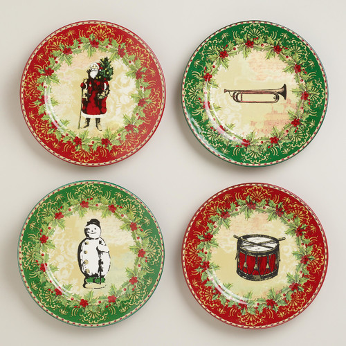 victorian christmas plates set of 4 more info