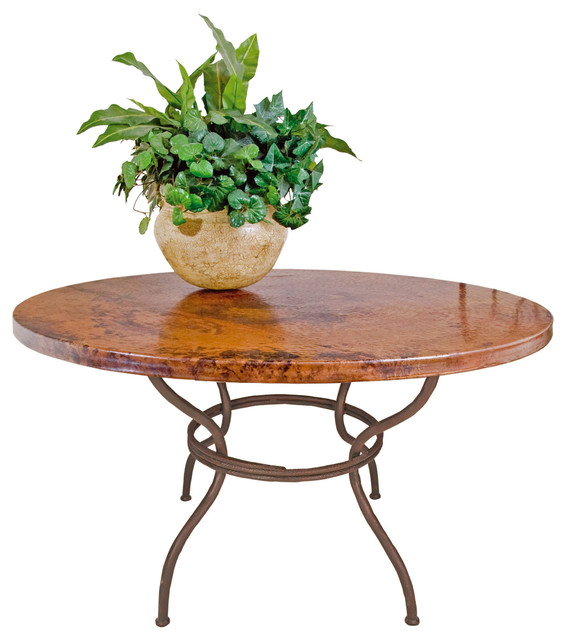 Woodland Dining Table With 48 Round Copper Top