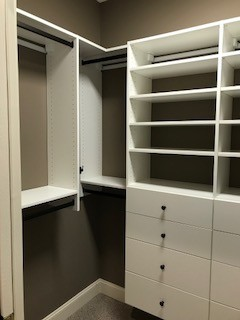 His and Hers walk-in closets inHendersonville, NC
