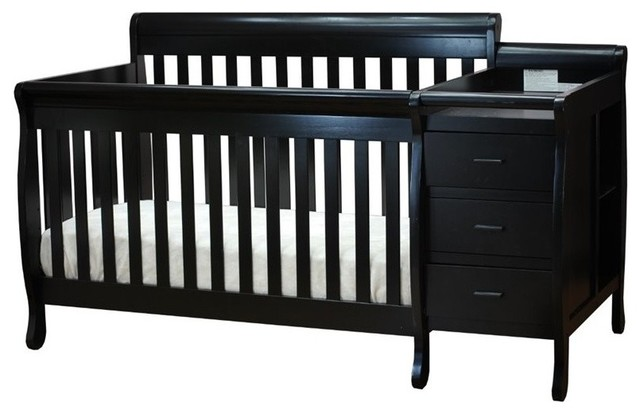 Afg Baby Furniture Athena Kimberly 3 In 1 Convertible Crib Black Transitional Cribs By