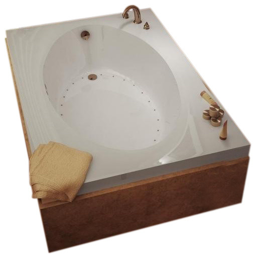 Atlantis Tubs 4384vwl Vogue 43x84x23 Inch Rectangular Whirlpool Jetted Bathtub.