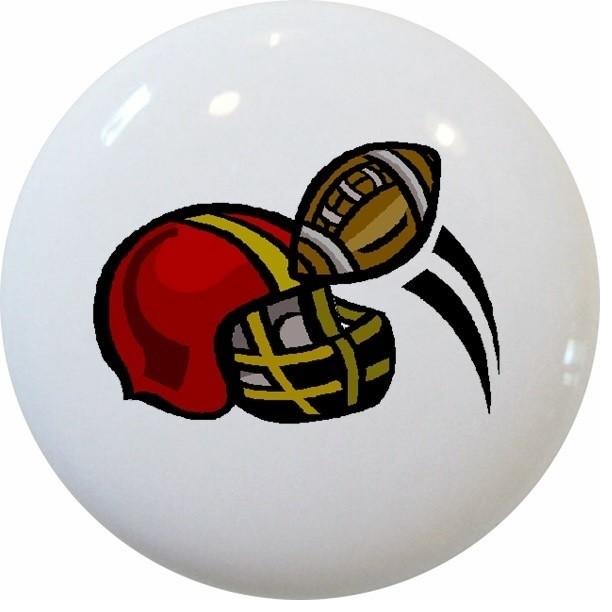 Shop Houzz | Carolina Hardware and Decor, LLC Football Helmet Ceramic Knob - Cabinet And Drawer ...
