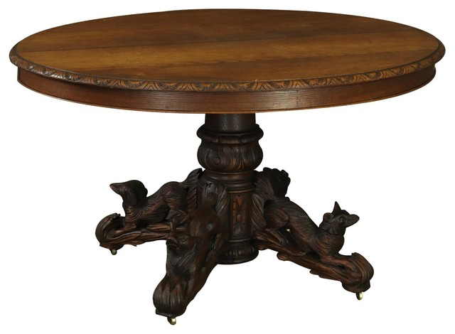 Consigned Table French Renaissance Hunting Antique