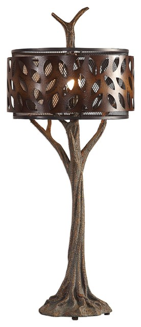 Tremula Whimsical Organic Tree Sculpture Table Lamp.