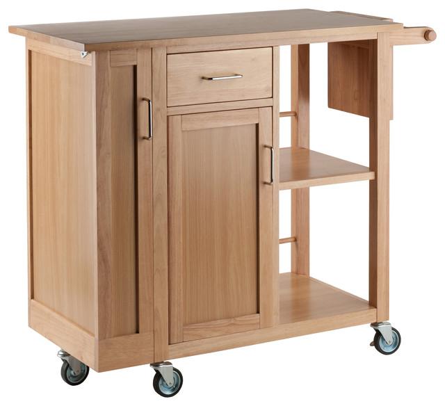 Douglas Kitchen Cart, Natural Finish.
