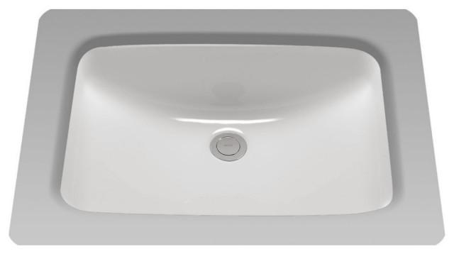 Toto 19 X12 3 8 Rectangular Undermount Bathroom Sink Contemporary Bathroom Sinks By Kitchen And Bath Distributor Houzz