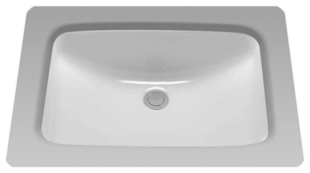 Toto 19 X12 3 8 Rectangular Undermount Bathroom Sink Cotton White