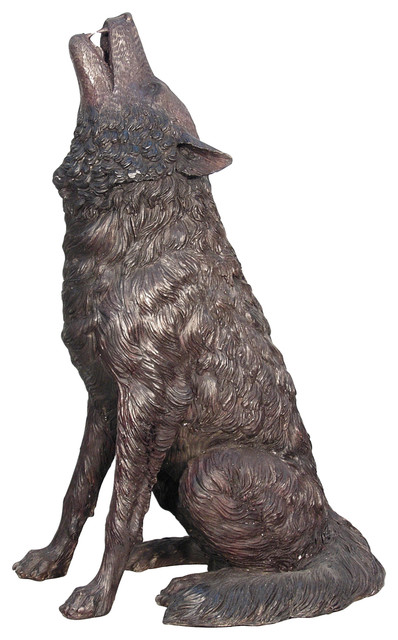Howling Wolf Rustic Garden Statues And Yard Art By