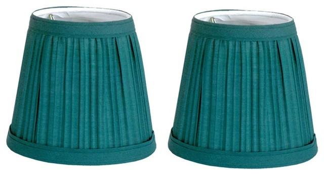 Renovators Supply Set of 2 Fabric Lamp Shade 4 1//16 Mini Clip On