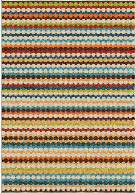 Bright Dotted Indoor/outdoor Area Rug, 7&x27;8x10&x27;10.