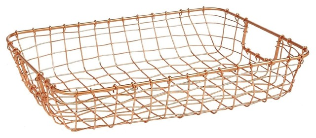 cabo copper wire letter basket contemporary storage and organization