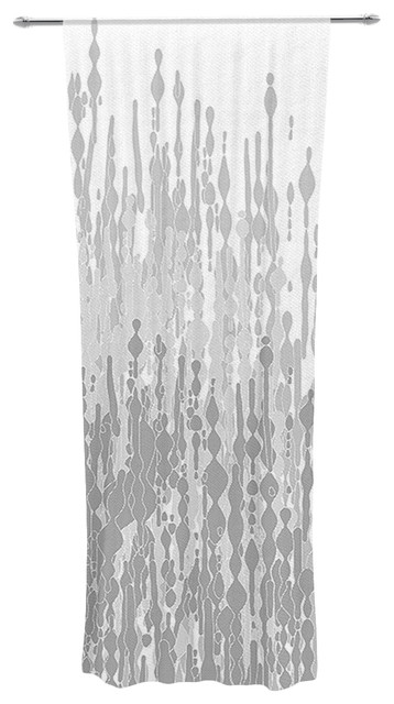 Frederic Levy Hadida Quot Drops Quot Gray Decorative Sheer Curtain
