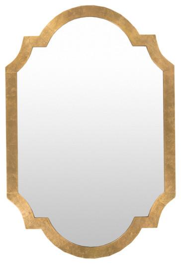 Gold Wall Mirror.