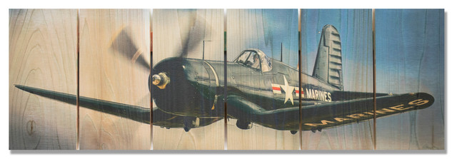 American Ace Inside/outside Full Color Cedar Wall Art, 32x11.