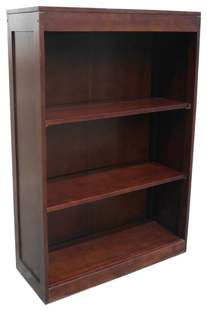 Bellevue Mahogany Short Bookcase - Transitional - Bookcases - by Uber Bazaar