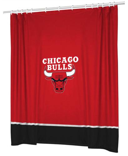 NBA Chicago Bulls Basketball Bathroom Accent Shower Curtain