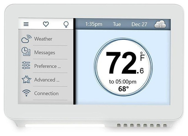 "Vine 7-Day Wi-Fi Smart Programmable Thermostat With 4.5"" Color Touchscreen."