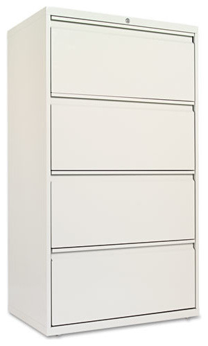 "Shop Houzz | Alera Four-Drawer Lateral File Cabinet, 30""x19-1/4""x53-1/4"", Black - Filing Cabinets"