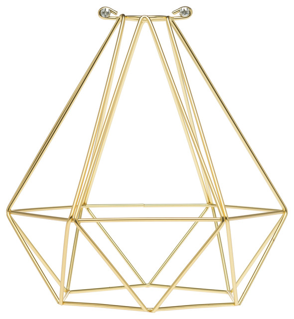 Geometric Bulb Cage Satin Gold