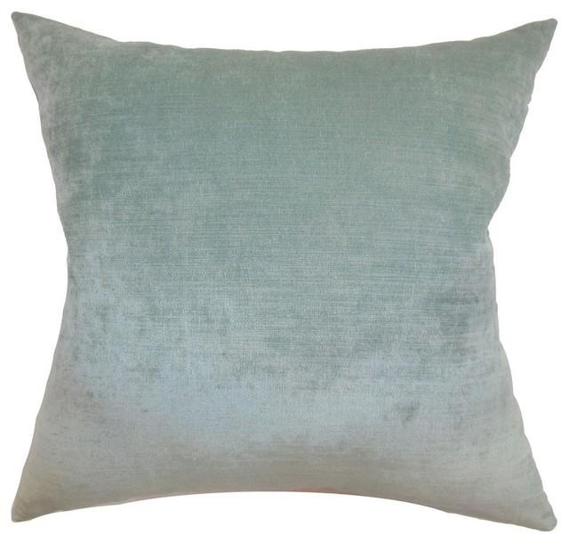 Haye Plain Pillow Aqua Contemporary Decorative Pillows By The Mesmerizing Plain Decorative Pillows