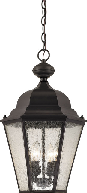 Cotswold 4 Light Exterior Hanging Lamp, Oil Rubbed Bronze
