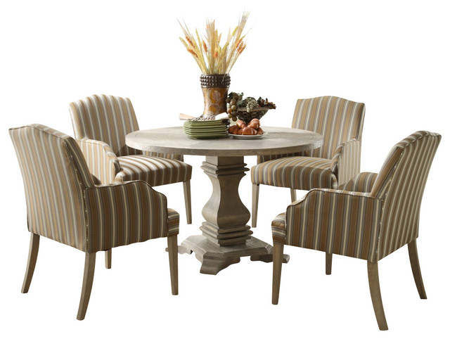 Homelegance Euro Casual 5 Piece Round Pedestal Dining Room Set Traditional  Dining Sets