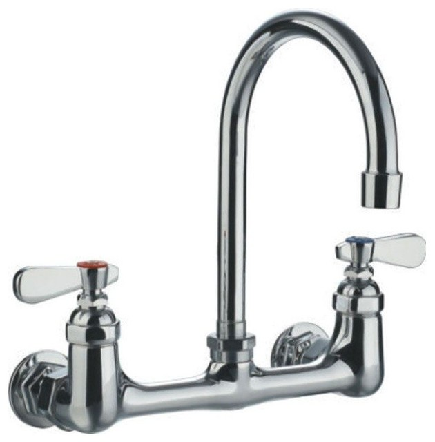 wallmounted utility faucet with gooseneck swivel spout sinkfaucets