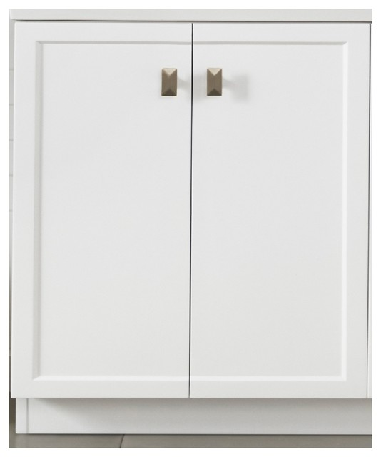 Ronbow 30 Aravo Solutions Vanity With Toe Kick White Contemporary Bathroom Vanities And Sink Consoles By Ronbow Corp Houzz
