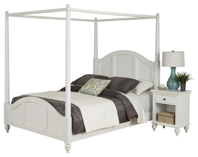 canopy bed and nightstand white finish bedroom furniture sets