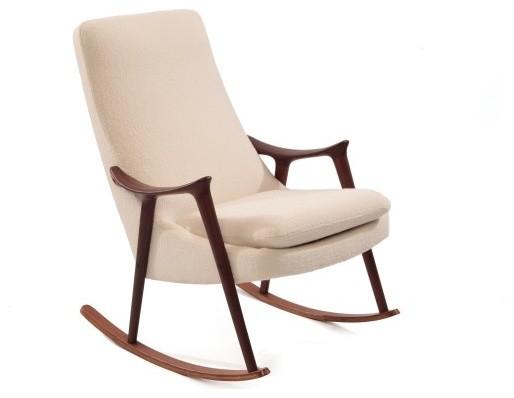 Sculptural Danish Rocking Chair Modern Rocking Chairs