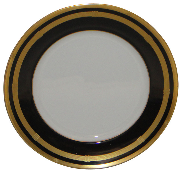 Christian Dior Gaudron-Onyx (Gold) Salad Plate - Traditional - Salad ...