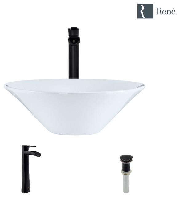 Pleasing R2 5015 W White Porcelain Vessel Sink R9 7007 Faucet Antique Bronze Best Image Libraries Ponolprimenicaraguapropertycom