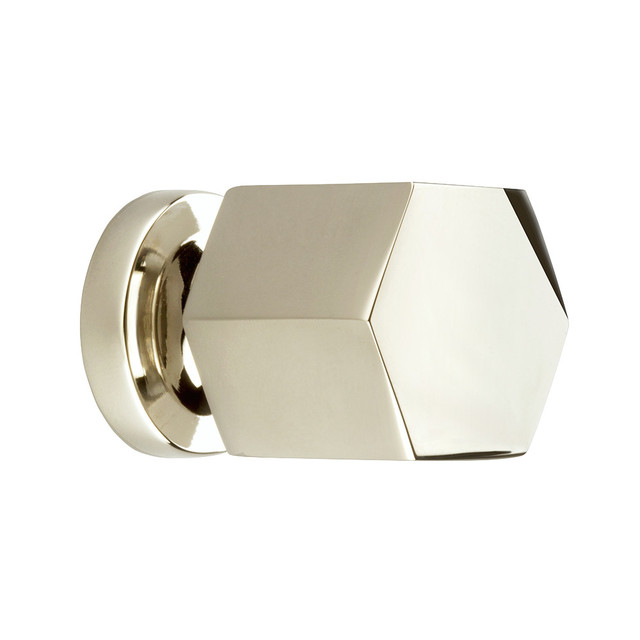 Hexad Knob, 30 mm Diameter, Polished Nickel - Modern - Cabinet And Drawer Knobs - by myoh