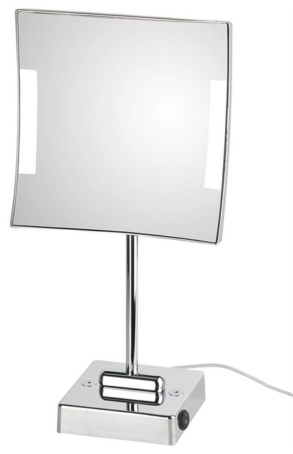 Free Standing Led Magnifying Mirror Contemporary Bathroom Mirrors By Shopladder