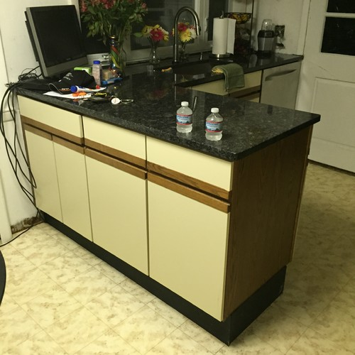 making kitchen cabinet doors from plywood floors