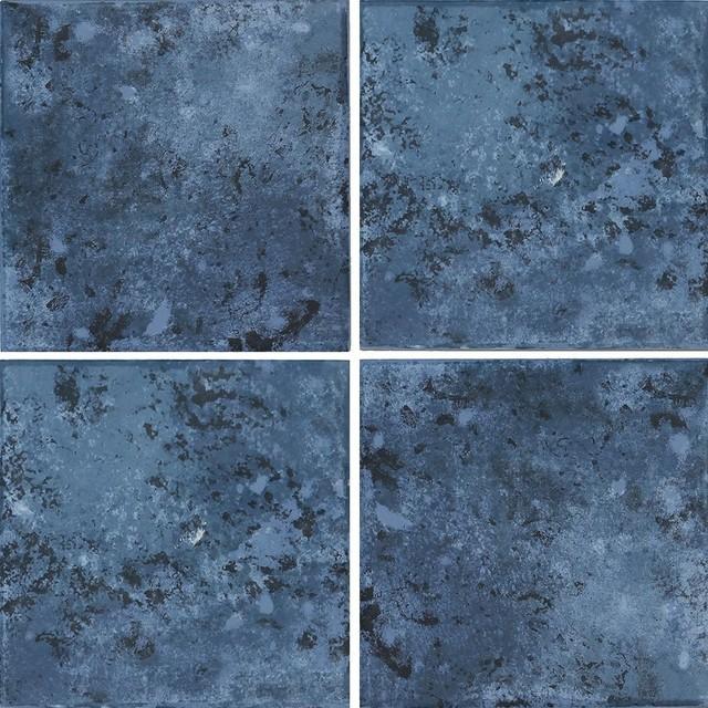 """Pacific Blue, 6""""x6"""", 4-Pieces, 1 Sq.ft., Porcelain Pool Tile."""