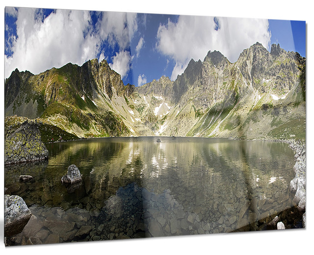 Metal Wall Art Mountain Landscapes : Quot mountain lake with reflection landscape photo metal wall
