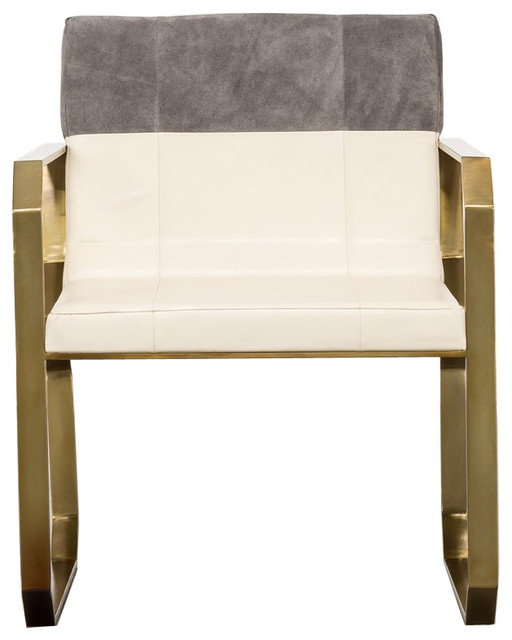 Gray Suede Dining Chair.