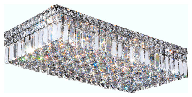 Cascade 6 light chrome finish crystal 24 rectangle ceiling light cascade 6 light chrome finish crystal 24 rectangle ceiling light aloadofball Gallery