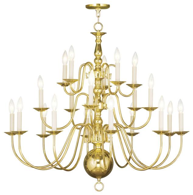 Livex Lighting Inc Williamsburg 20 Light Chandelier