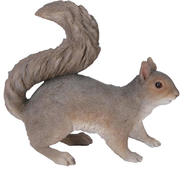 Grey Squirrel Garden Statue 11 5 Quot Transitional Garden
