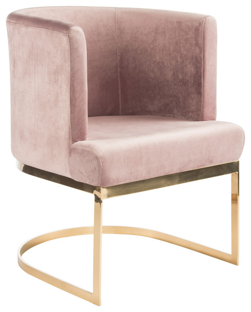 Hazel Gold Dining Chairs Pink Set Of 2