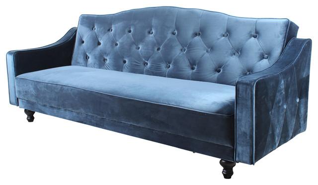 Sleeper Sofa BED, Everr Velvet, Blue