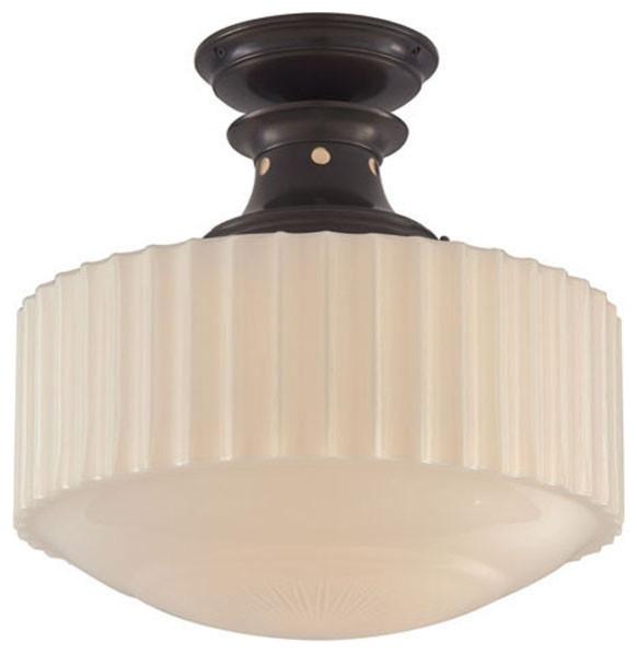 Visual Comfort Lighting Thomas Obrien Milton Road 1 Light Flush Mount.