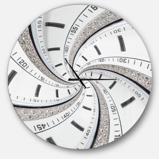 Swirled Time Vortex Oversized Contemporary Metal Clock Contemporary Wall Clocks By Design Art Usa