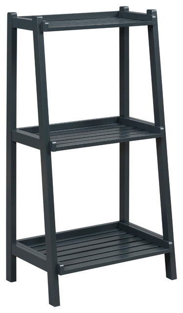 Dunnsville 3-Tier Ladder Shelf, Graphite.