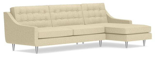 Cloverdale Drive 2-Piece Sectional Sofa, Bisque, Chaise On Right.